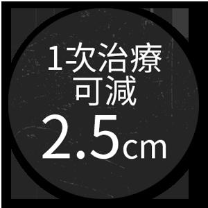 5. 【SCIZER】獲韓國KFDA證實BMI少於30,1次治療可減 2.5cm